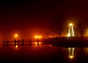 Foggy Night at Concord Point Lighthouse